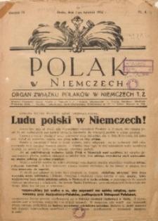 Polak w Niemczech, 1932, R. 9, Nr. 4