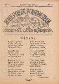 Mały Polak w Niemczech, 1926, R. 2, Nr. 4