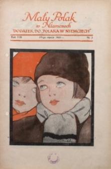 Mały Polak w Niemczech, 1933, R. 8, Nr. 3
