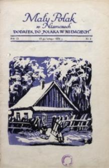 Mały Polak w Niemczech, 1934, R. 9, Nr. 2