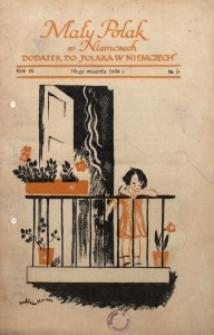 Mały Polak w Niemczech, 1934, R. 9, Nr. 9