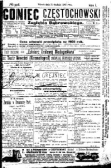 Goniec Częstochowski, 1907, R. 1, No 356