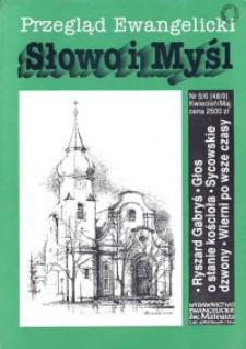 Słowo i Myśl. Przegląd Ewangelicki, 1993, Nr _06