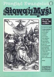 Słowo i Myśl. Przegląd Ewangelicki, 1993, Nr 11