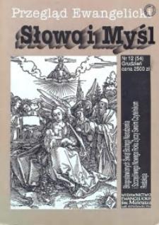 Słowo i Myśl. Przegląd Ewangelicki, 1993, Nr 12