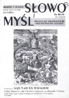 Słowo i Myśl. Przegląd Ewangelicki. Miesięcznik Społeczno-Kulturalny, 2000, Nr _08