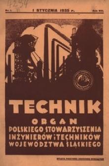 Technik, 1935, R. 8, nr 1