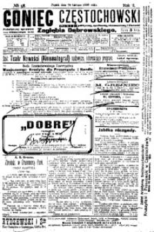 Goniec Częstochowski, 1908, R. 2, No 58