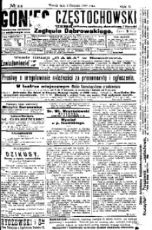 Goniec Częstochowski, 1908, R. 2, No 212