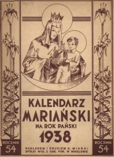 Kalendarz Mariański na Rok Pański 1938. R. 54