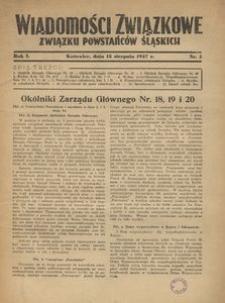 Wiadomości Związkowe Związku Powstańców Śląskich, R. 1, nr 3