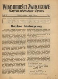 Wiadomości Związkowe Związku Powstańców Śląskich, R. 2, nr 3