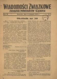 Wiadomości Związkowe Związku Powstańców Śląskich, R. 3, nr 3