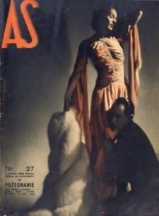 As. Ilustrowany magazyn tygodniowy, 1938, R. 4, nr 27