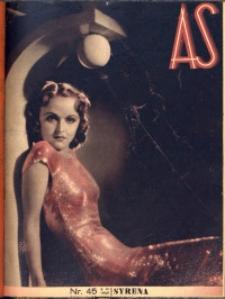 As. Ilustrowany magazyn tygodniowy, 1938, R. 4, nr 45