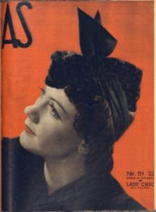 As. Ilustrowany magazyn tygodniowy, 1938, R. 4, nr 51