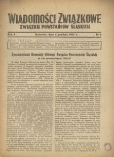 Wiadomości Związkowe Związku Powstańców Śląskich, R. 1, nr 6