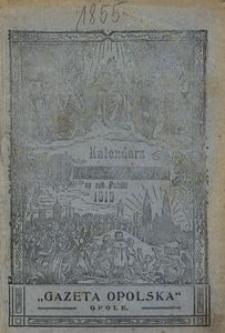 Kalendarz Marjański na Rok Pański 1919. R. 36