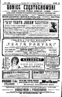 Goniec Częstochowski, 1910, R. 5, No 146
