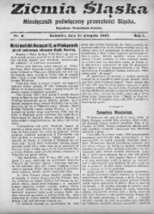 Ziemia Śląska, 1927, R. 1, Nr. 4