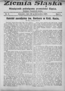 Ziemia Śląska, 1927, R. 1, Nr. 5