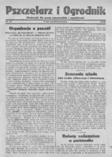 Pszczelarz i Ogrodnik, 1932, Nr. 10