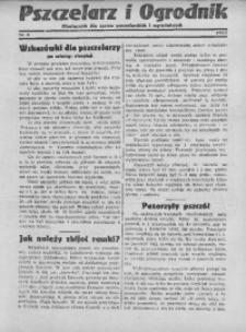 Pszczelarz i Ogrodnik, 1933, Nr. 8