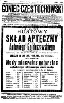 Goniec Częstochowski, 1913, R. 8, No 5