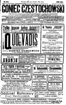Goniec Częstochowski, 1913, R. 8, No 154