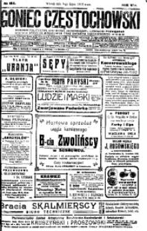 Goniec Częstochowski, 1913, R. 8, No 184