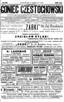 Goniec Częstochowski, 1913, R. 8, No 218