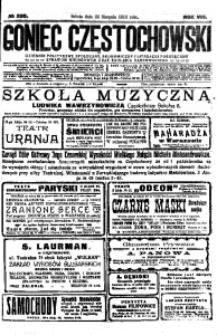 Goniec Częstochowski, 1913, R. 8, No 230