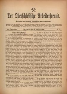Der Oberschlesische Arbeiterfreund, 1906/1907, Jg. 7, No 57