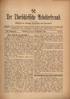 Der Oberschlesische Arbeiterfreund, 1906/1907, Jg. 7, No 70