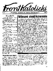 Front Katolicki, [1939], R. 3, nr 3