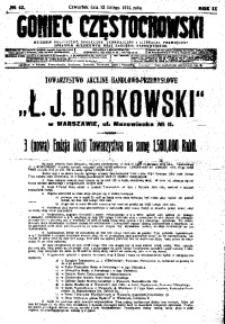 Goniec Częstochowski, 1914, R. 9, No 42