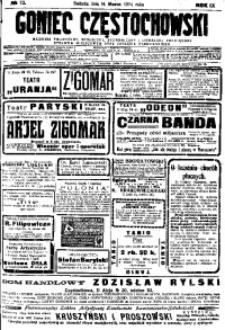 Goniec Częstochowski, 1914, R. 9, No 72