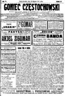 Goniec Częstochowski, 1914, R. 9, No 74