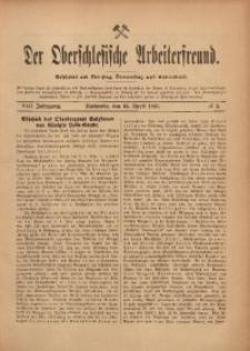 Der Oberschlesische Arbeiterfreund, 1907/1908, Jg. 8, No 5