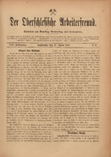 Der Oberschlesische Arbeiterfreund, 1907/1908, Jg. 8, No 9