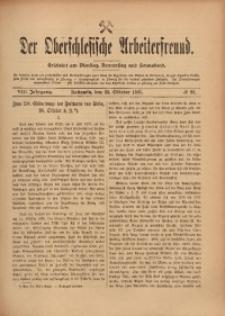 Der Oberschlesische Arbeiterfreund, 1907/1908, Jg. 8, No 86