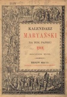 Kalendarz Maryański na Rok Pański 1901. R. 18
