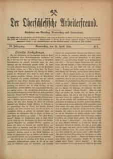 Der Oberschlesische Arbeiterfreund, 1908/1909, Jg. 9, No 9