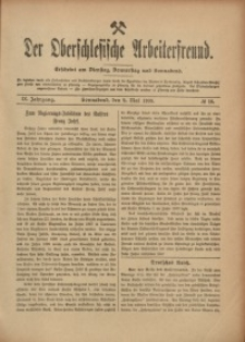 Der Oberschlesische Arbeiterfreund, 1908/1909, Jg. 9, No 16