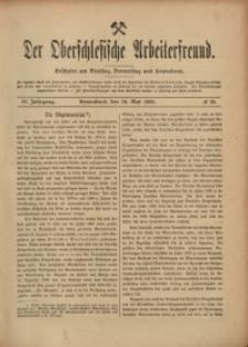 Der Oberschlesische Arbeiterfreund, 1908/1909, Jg. 9, No 19