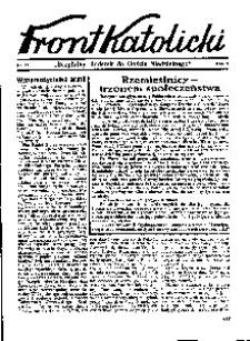 Front Katolicki, [1939], R. 3, nr 31