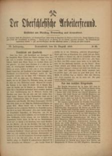 Der Oberschlesische Arbeiterfreund, 1908/1909, Jg. 9, No 63