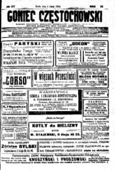 Goniec Częstochowski, 1914, R. 9, No 177