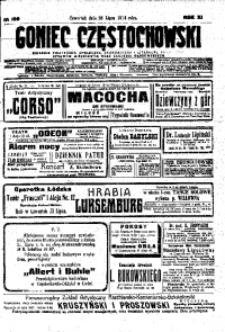 Goniec Częstochowski, 1914, R. 11, No 199