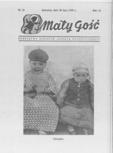 Mały Gość, 1939, R. 14, nr 31